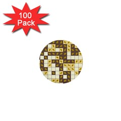Autumn Leaves Pattern 1  Mini Buttons (100 Pack)