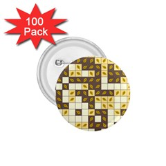 Autumn Leaves Pattern 1 75  Buttons (100 Pack)