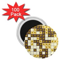 Autumn Leaves Pattern 1 75  Magnets (100 Pack)