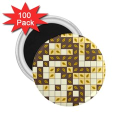 Autumn Leaves Pattern 2 25  Magnets (100 Pack)