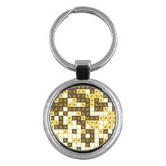 Autumn Leaves Pattern Key Chains (round)