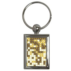 Autumn Leaves Pattern Key Chains (rectangle)