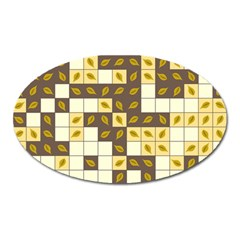 Autumn Leaves Pattern Oval Magnet