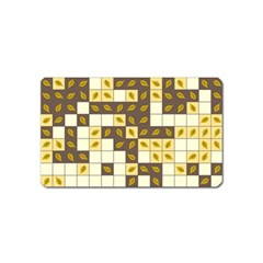 Autumn Leaves Pattern Magnet (name Card)