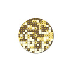 Autumn Leaves Pattern Golf Ball Marker (4 Pack)