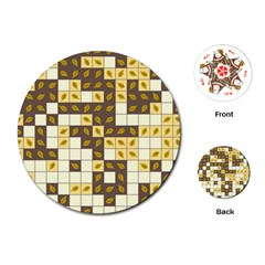 Autumn Leaves Pattern Playing Cards (round)