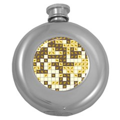 Autumn Leaves Pattern Round Hip Flask (5 Oz)