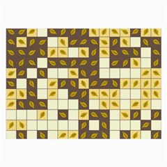 Autumn Leaves Pattern Large Glasses Cloth (2 Side)