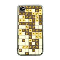 Autumn Leaves Pattern Apple Iphone 4 Case (clear)