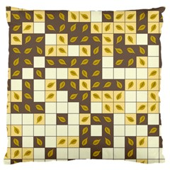 Autumn Leaves Pattern Large Cushion Case (two Sides)