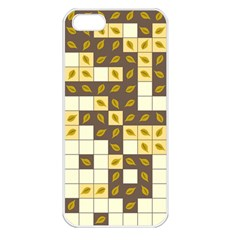 Autumn Leaves Pattern Apple Iphone 5 Seamless Case (white)