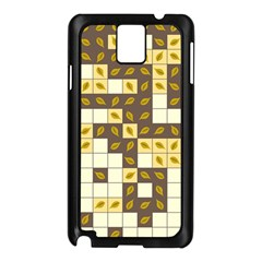 Autumn Leaves Pattern Samsung Galaxy Note 3 N9005 Case (black)