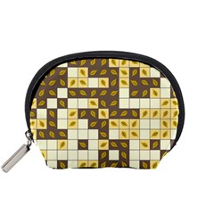 Autumn Leaves Pattern Accessory Pouches (small)