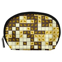 Autumn Leaves Pattern Accessory Pouches (large)
