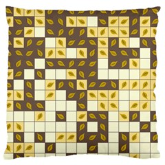 Autumn Leaves Pattern Large Flano Cushion Case (two Sides)