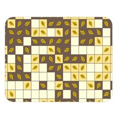 Autumn Leaves Pattern Double Sided Flano Blanket (large)