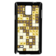 Autumn Leaves Pattern Samsung Galaxy Note 4 Case (black)