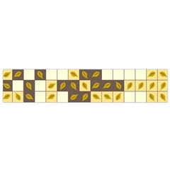 Autumn Leaves Pattern Flano Scarf (small)