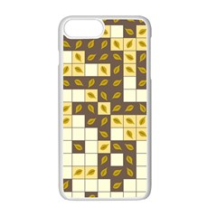 Autumn Leaves Pattern Apple Iphone 7 Plus Seamless Case (white)