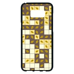Autumn Leaves Pattern Samsung Galaxy S8 Plus Black Seamless Case