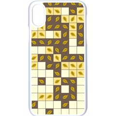 Autumn Leaves Pattern Apple Iphone X Seamless Case (white)