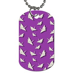 Paper Cranes Pattern Dog Tag (one Side)