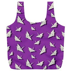 Paper Cranes Pattern Full Print Recycle Bags (l)