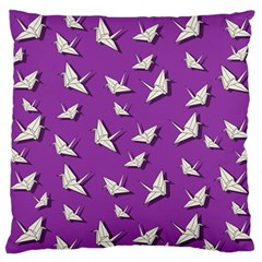 Paper Cranes Pattern Standard Flano Cushion Case (two Sides)