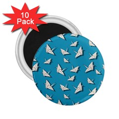 Paper Cranes Pattern 2 25  Magnets (10 Pack)