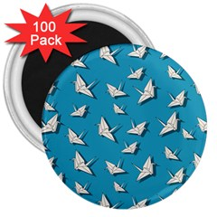 Paper Cranes Pattern 3  Magnets (100 Pack)
