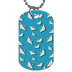 Paper Cranes Pattern Dog Tag (two Sides)