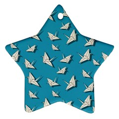 Paper Cranes Pattern Star Ornament (two Sides)