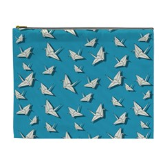 Paper Cranes Pattern Cosmetic Bag (xl)