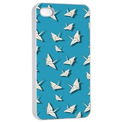 Paper Cranes Pattern Apple Iphone 4/4s Seamless Case (white)