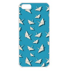 Paper Cranes Pattern Apple Iphone 5 Seamless Case (white)