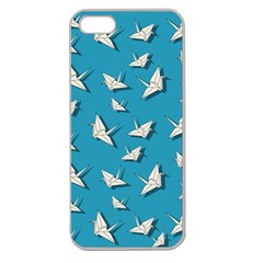 Paper Cranes Pattern Apple Seamless Iphone 5 Case (clear)