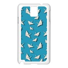 Paper Cranes Pattern Samsung Galaxy Note 3 N9005 Case (white)