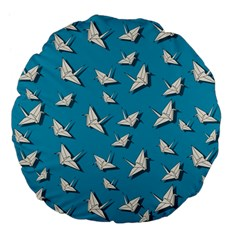 Paper Cranes Pattern Large 18  Premium Flano Round Cushions