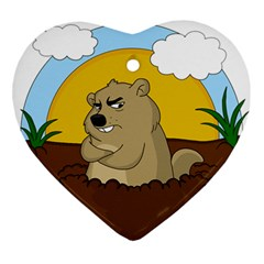 Groundhog Day Ornament (heart)