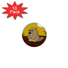 Groundhog Day 1  Mini Buttons (10 Pack)
