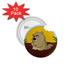 Groundhog Day 1 75  Buttons (10 Pack)