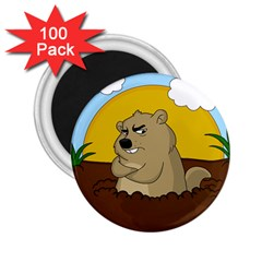 Groundhog Day 2 25  Magnets (100 Pack)