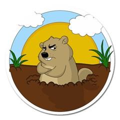 Groundhog Day Magnet 5  (round)