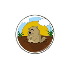 Groundhog Day Hat Clip Ball Marker (4 Pack)