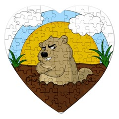 Groundhog Day Jigsaw Puzzle (heart)
