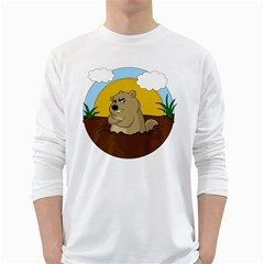 Groundhog Day White Long Sleeve T Shirts