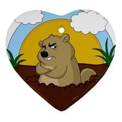 Groundhog Day Heart Ornament (two Sides)