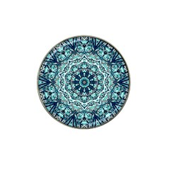 Green Blue Black Mandala  Psychedelic Pattern Hat Clip Ball Marker (4 Pack)