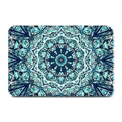 Green Blue Black Mandala  Psychedelic Pattern Plate Mats
