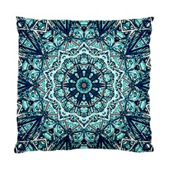 Green Blue Black Mandala  Psychedelic Pattern Standard Cushion Case (two Sides)